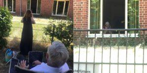 Hinterm Zaun: Besuch bei meiner Schwiegermutter in der Einrichtung in Bremen