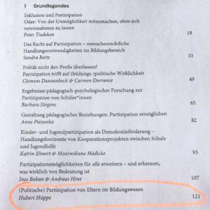 """Buch-Neuerscheinung """"Inklusion und Partizipation in Schule und Gesellschaft"""""""