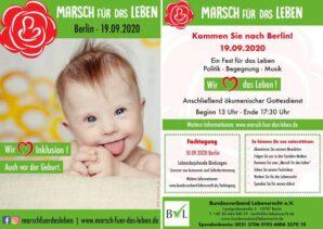 """""""Marsch für das Leben"""" am 19.09.2020 in Berlin"""