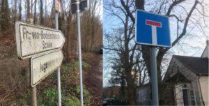 Schild zur Fr. von Bodelschwingh-Schule Sackgasse