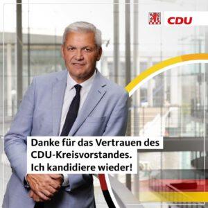 Ich kandidiere wieder für den Bundestag