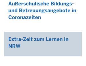 """Mittel aus dem Landesprogramm """"Extra-Zeit zum Lernen NRW"""""""