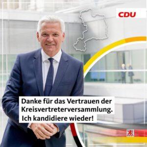 Wahlkreisvertreter-Versammlung der CDU Kreisverband Unna hat mich zum Bundestagskandidaten gewählt