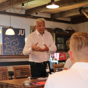 Besuch von Hubert Hüppe, CDU, bei der Kreismitgliederversammlung der Jungen Union Kreis Unna, 17.07.21