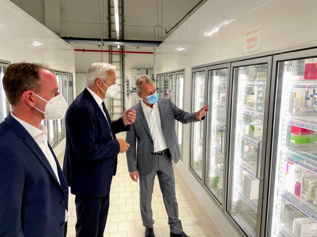 CDU-Bundestagskandidat Hubert Hüppe besucht Pharma-Großhändler NOWEDA in Schwerte am 09.09.21