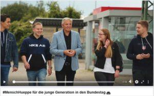 JU-Unterstützervideo #MenschHueppe für die junge Generation in den Bundestag
